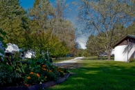 RV Park and Flowers